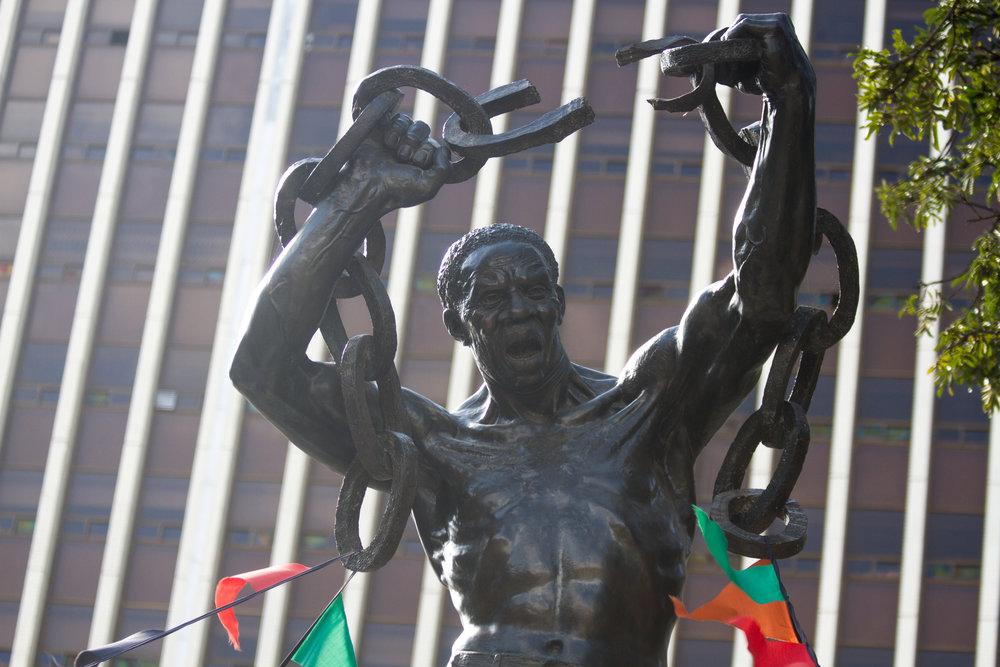 Zambia Freedom Statue - Mpundu Mutembo - Independence Avenue Lusaka
