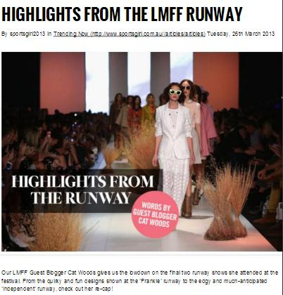 Blog for Sportsgirl (Winning Entry for L'Oreal Melbourne Fashion Festival)