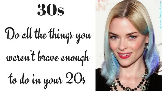 beauty 30s blue hair jaime king