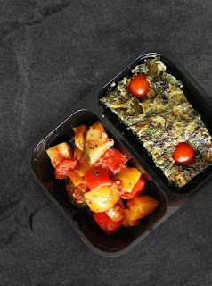 Thr1ve vegetable frittata meal delivery