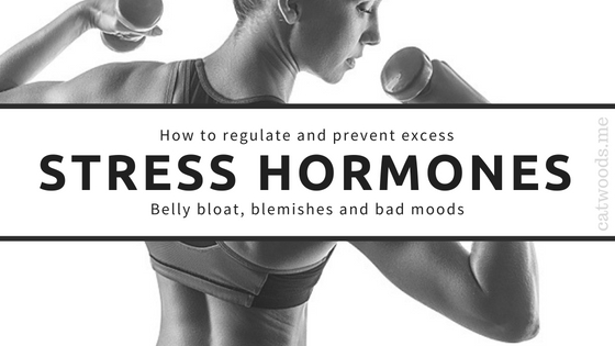 stress hormones belly fat blemishes acne health