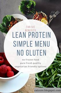 lean protein no gluten thr1ve vegetarian meals