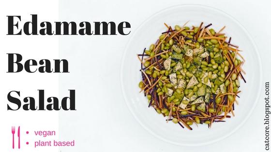Edamame Bean Salad Vegan