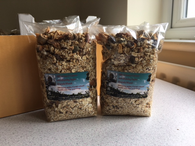 Cobnut and Bramley apple granola-muesli