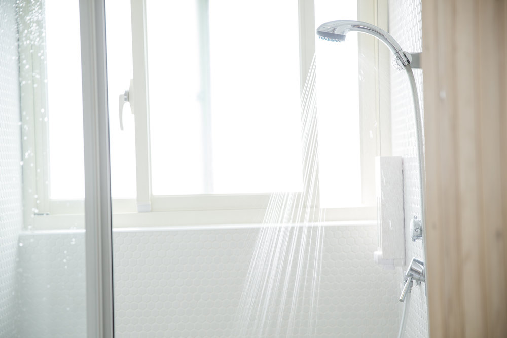 Female only & mix public shower for dorm guests. Free shampoo, conditioner, and body wash. Towel is available for rental.