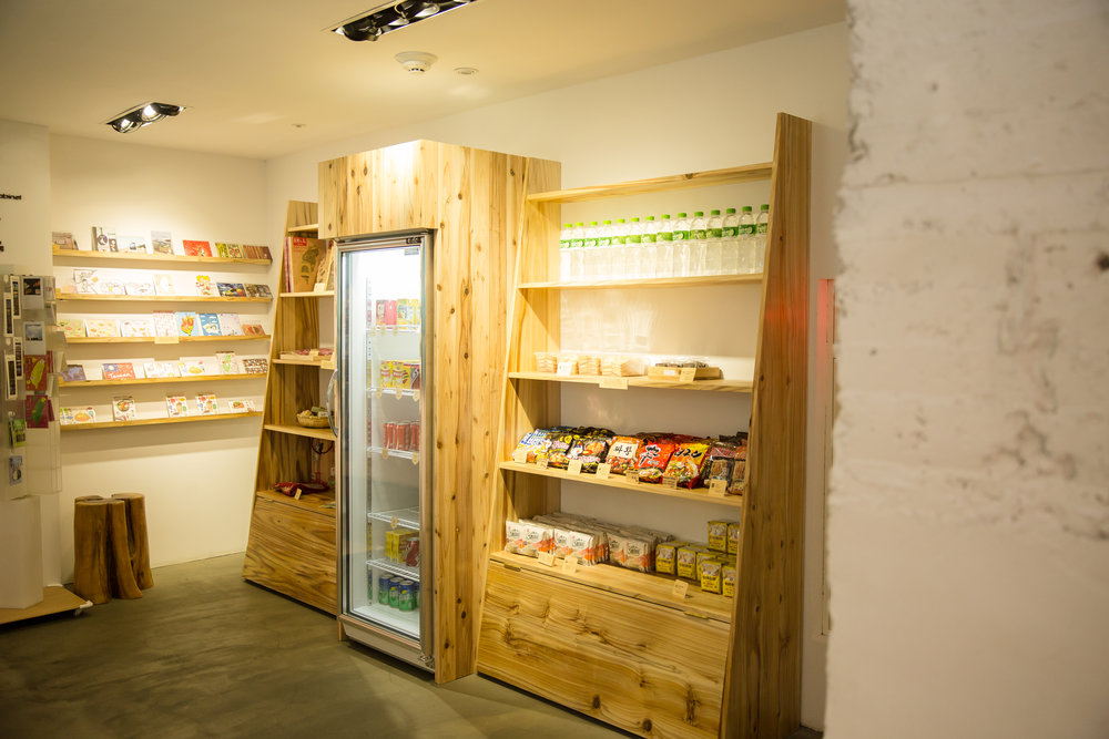 Mini store with refreshments and snacks!