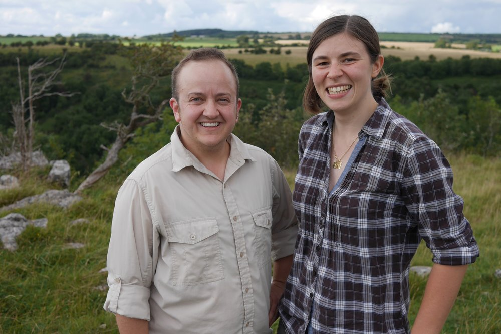 Jonathan and Allysse enjoying the view above cheddar gorge in south west england (photo by EMMA)
