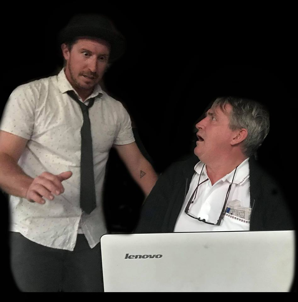 "Sean Hutton and Darrell Plumridge play it for laughs in ""Unlimited Service"" at Short+Sweet Theatre Queensland in Brisbane."
