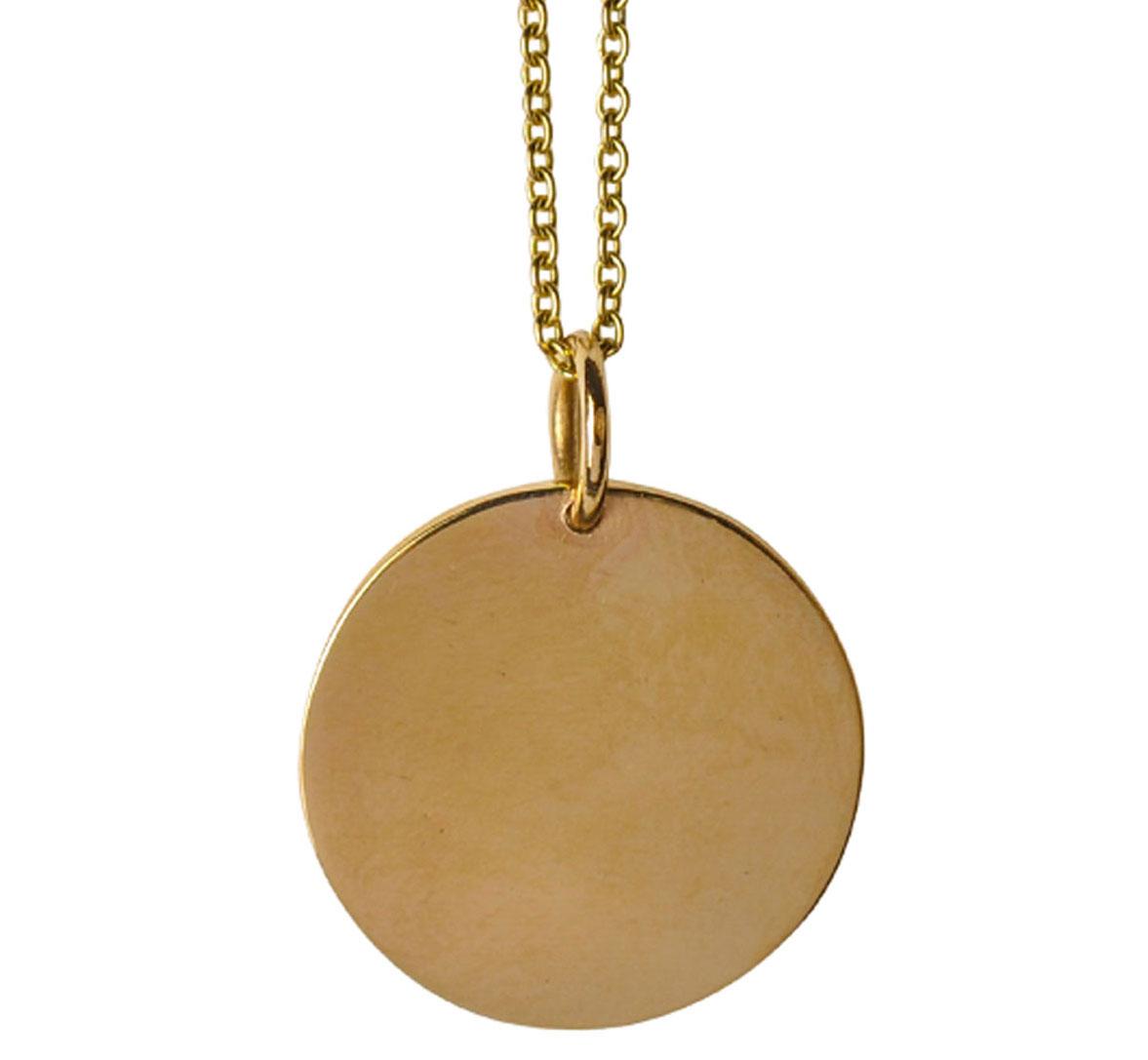 Large plain disc pendant necklace lindsay pearson large plain disc pendant necklace aloadofball Choice Image