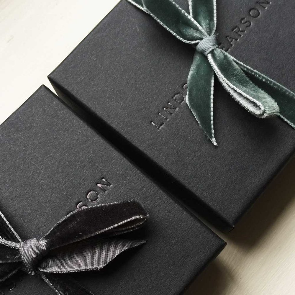 Gift Wrapped! - All Orders are sent beautifully wrapped & finished with velvet ribbon, ready for gifting..