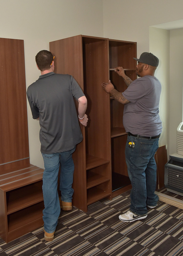 Double Room Closet Installation