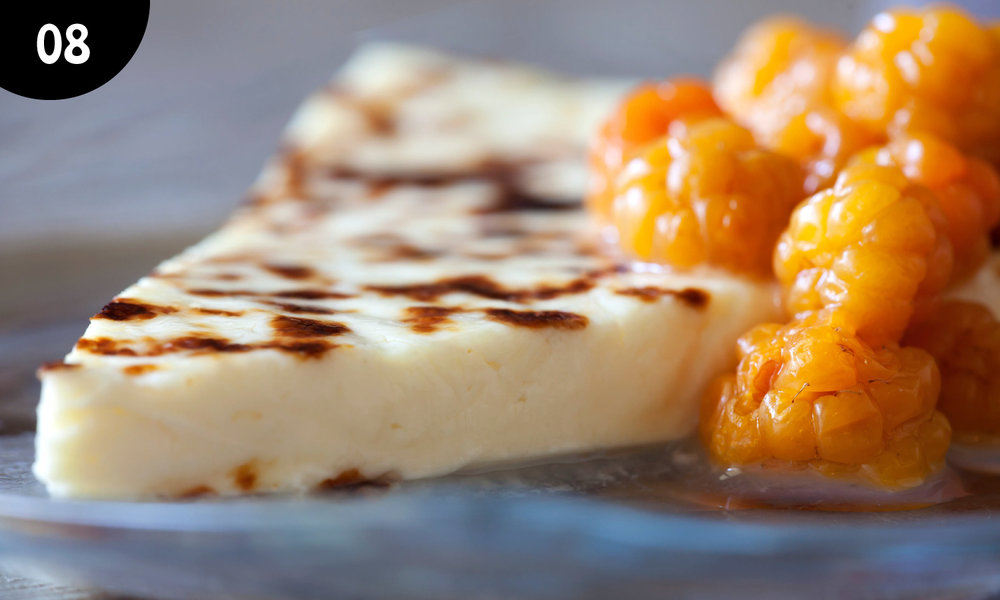 08 - Cheese Bread, Juustoleipä is mild cheese is most often made from milk. It is most delicious with cloudberry jam! You can find this iconic dessert from every traditional restaurant and from many modern restaurants menu also!  -
