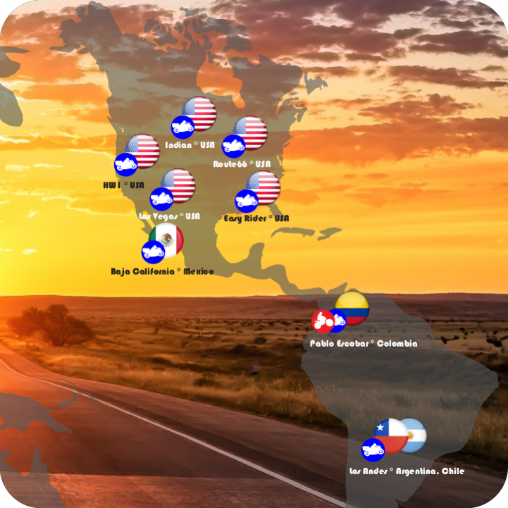Motorcycle tours to Americas