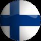 Finland flag button