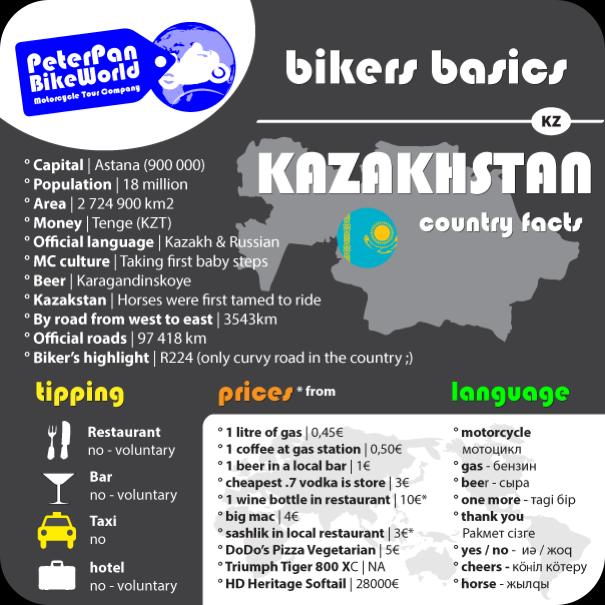 Bikers basics - Kazakstan country facts!