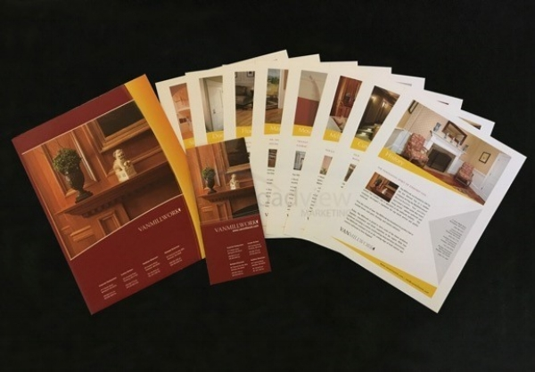Client: Van Millwork Rebrand Folder designed to house brochure and/or proposal Niche inserts Smaller version of brochure designed for mailing or distribution at events and tradeshows.