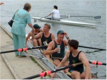Winning Oxford regatta 2003