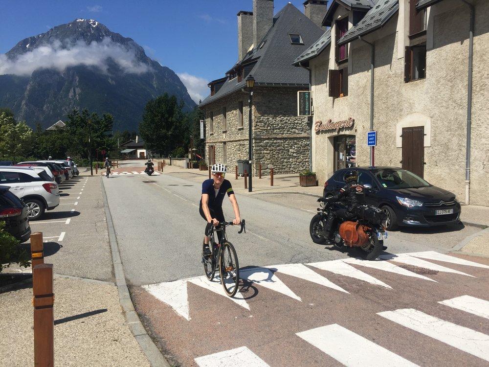 Leaving Allemont to climb Glandon