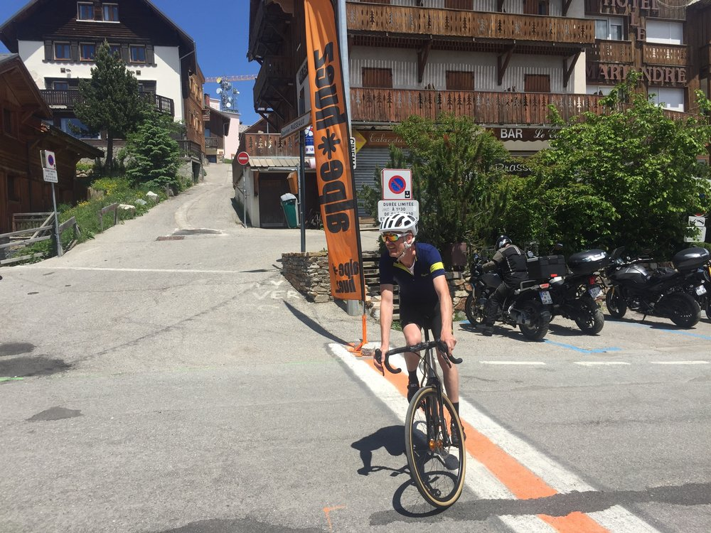 Tim at the top of Alpe d'Huez