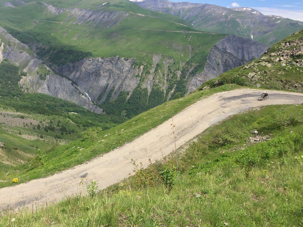 Descending Col de Sarenne