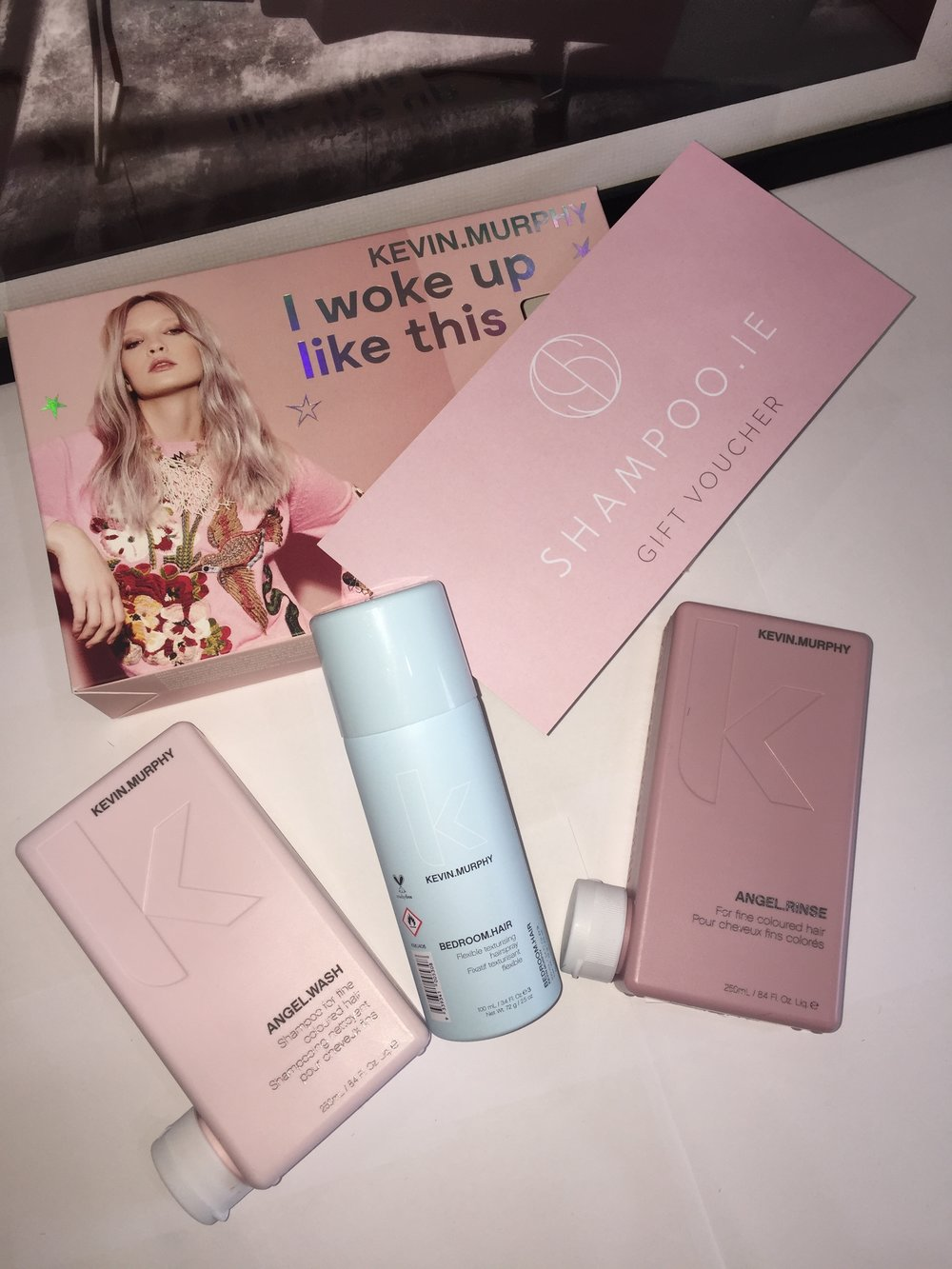 I woke up like this - Perfect for fine, broken, or dry hair this set will add volume and body with dynamic duo ANGEL.WASH and RINSE. Infused with Mango, Cocoa Butter and Green Tea Extracts. Finish off with a touch of BEDROOM.HAIR for an enviably sexy undone look. Now €55.