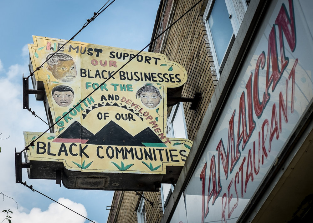"i-shot :      Park Heights Avenue. Baltimore. ""Black businesses""    Facebook.com/UncensoredCity    Instagram.com/JohnPatterson63"