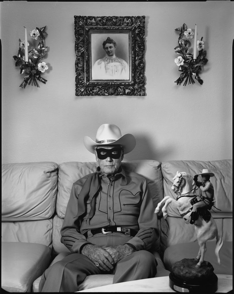 "midcenturymodernfreak :     1992  Clayton Moore, Television's ""Lone Ranger,"" at home in Los Angeles, CA  
