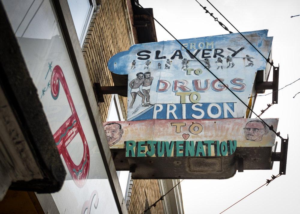 "i-shot :      Park Heights Avenue. Baltimore.""Slavery""    Facebook.com/UncensoredCity    Instagram.com/JohnPatterson63"