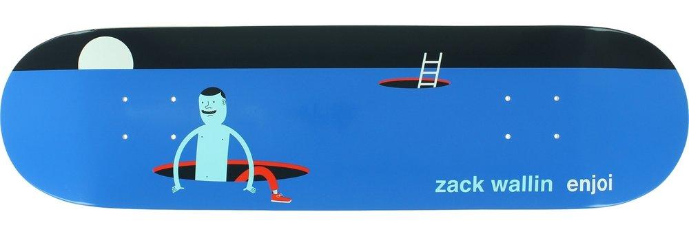 "Enjoi Skateboards Zack Wallin Enjoi x Jim Houser Skateboard Deck Resin-7 - 8.125"" x 31.7"""