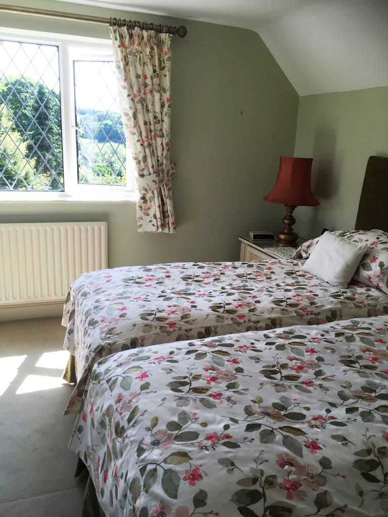 Bespoke curtains and matching bed spread