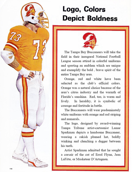 1976 BUCS COLORS