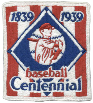 1939 BASEBALL CENTENNIAL PATCH