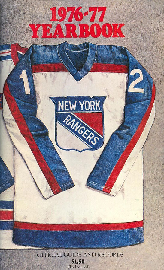 1976-77 RANGERS YEARBOOK