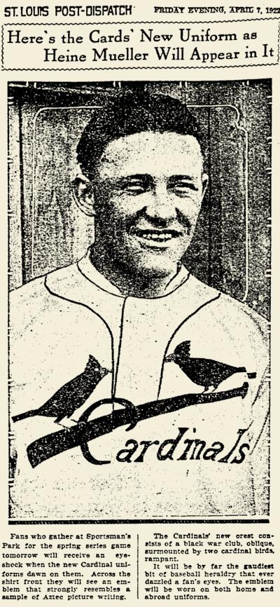 CARDINALS UNIFORMS_04.07.1922