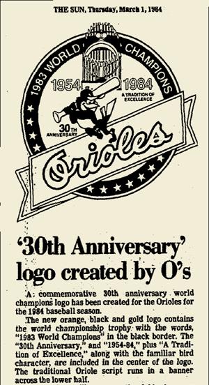 1984 ORIOLES ANNIVERSARY LOGO