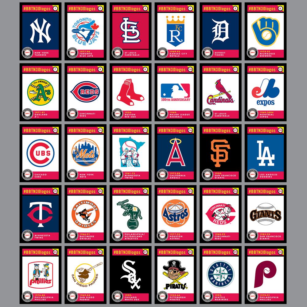 espn baseball tonight podcasts top 30 alltime mlb logos