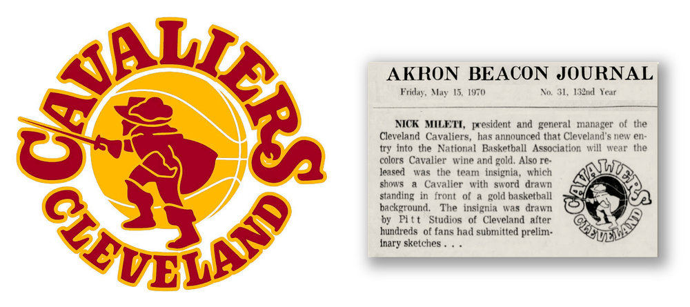 The Cleveland Cavaliers First Logowine And Gold With A Dash Of