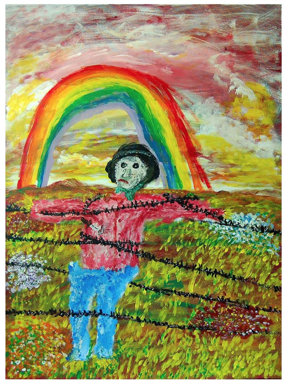 "Rainbow Bigotry by David Kontra (""blind"" artist)"