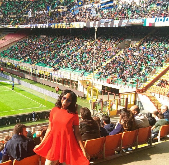 San Siro, Milan, Italy | 2015 | 20 years old  I am a die-hard sports fan so I do my best to attend a sporting event in every country that I visit. The energy in the soccer stadium was insane and hostile. Just the way I like it.