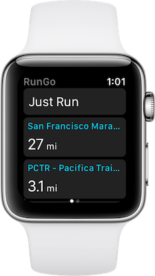 RunGo Apple Watch