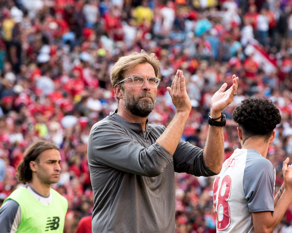 Jürgen Klopp applauds the tremendous support in Ann Arbor Saturday - Photo: Elizabeth Wenner