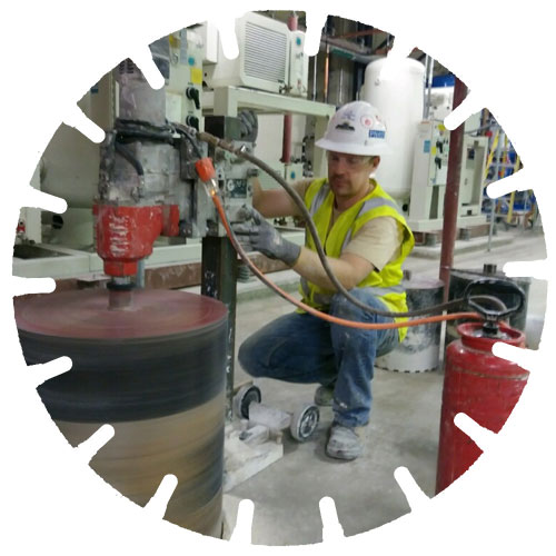 Core Drilling - Holes can be drilled almost any size ranging from 3/8