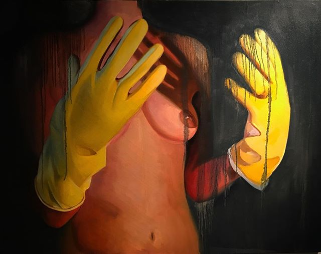 "Torso - ""After Israel Horowitz""  36""x48"" Oil on canvas  Tbt from my recent MFA. . . . . . #oilpainting #feminism #feministart #mfa #figurepainting #femalepainter #femalegaze"