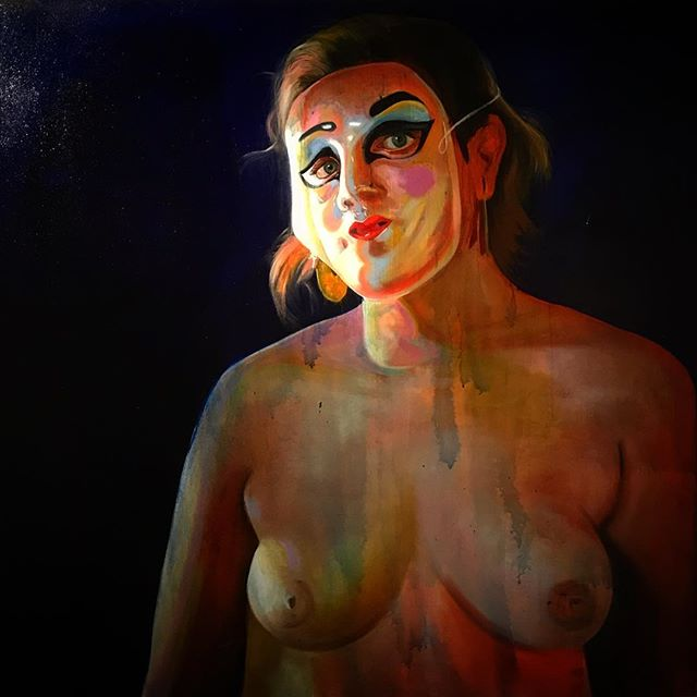 """Learned Behavior"" 36""x36"" Oil on canvas -2018  #figurepainting #contemporaryart #contemporarypainting #femalepainter #femalegaze #uwgrad #uwmfa #figure"