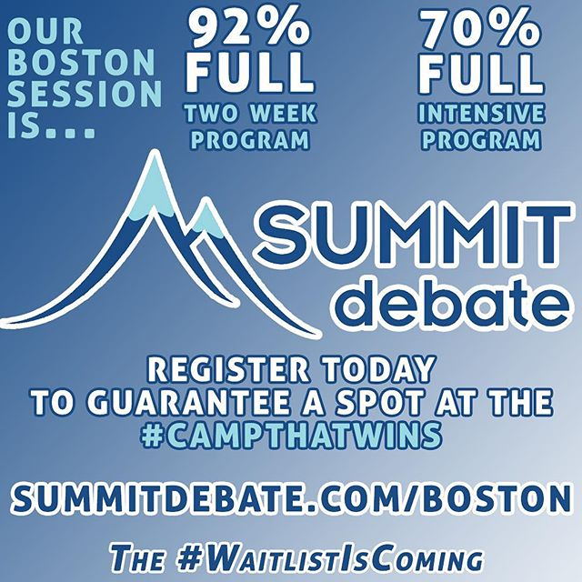 FYI: Our Boston session is almost full! Register as soon as possible to guarantee a spot at our Boston session.  #WaitlistIsComing
