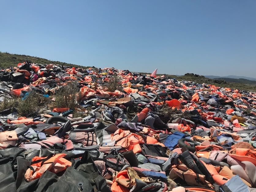 The lifejackets graveyard. (Photo: Maris Toalson)