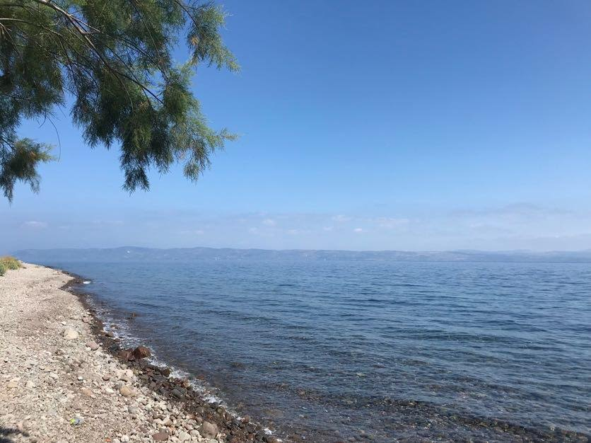 The Turkish coast in the distance, about 4 miles from the coast of Lesvos, Greece. (Photo: Maris Toalson)