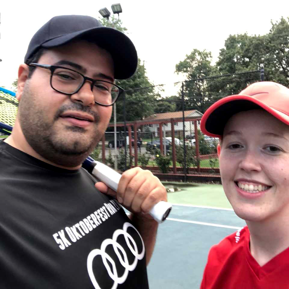 Mo and Jessica Eldosoky enjoy playing tennis at their Columbia Pike apartment complex.