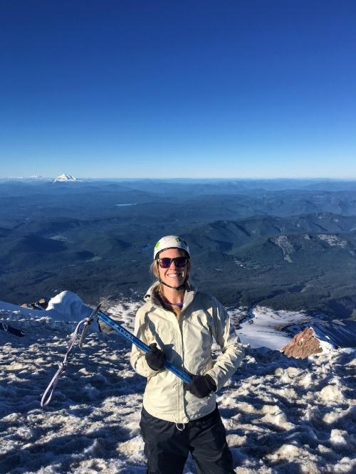 Triumphant on the summit