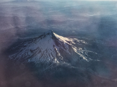Mt. Hood from the airplane